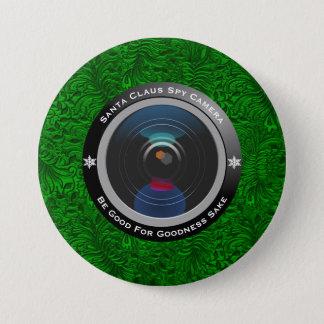 Bóton Redondo 7.62cm Câmera do espião de Papai Noel