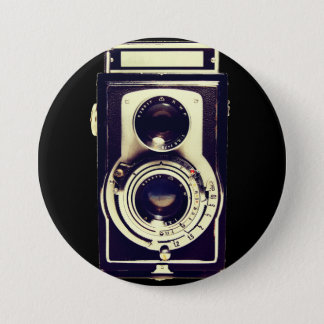 Bóton Redondo 7.62cm Câmera do vintage