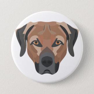 Bóton Redondo 7.62cm Cão Brown Labrador da ilustração
