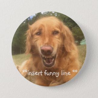 Bóton Redondo 7.62cm Cão inàbil de sorriso customizável do botão