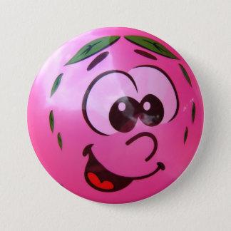 Bóton Redondo 7.62cm Cara cor-de-rosa do balão