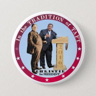 Bóton Redondo 7.62cm Christie para o presidente 2016