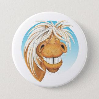 """Bóton Redondo 7.62cm Companheiro do cavalo de Equi-toons """"Chappie"""