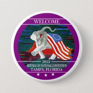 Bóton Redondo 7.62cm Convenção 2012 nacional republicana
