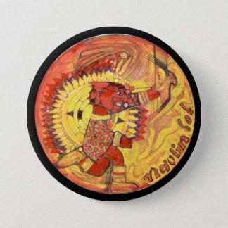 Bóton Redondo 7.62cm Cor asteca do deus de sol - México de surpresa