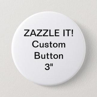 """Bóton Redondo 7.62cm Costume 3"""" modelo vazio do Pin do crachá do botão"""