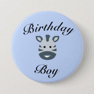 Bóton Redondo 7.62cm Crachá do menino do aniversário