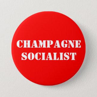 Bóton Redondo 7.62cm Crachá do socialista de Champagne