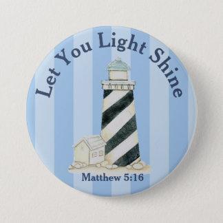 Bóton Redondo 7.62cm Deixe seu 5:16 claro de Matthew do brilho