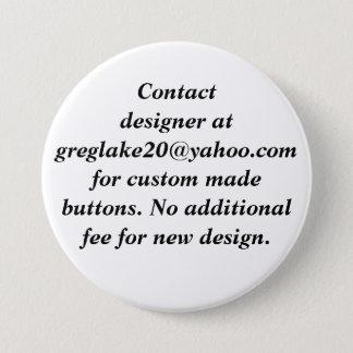 Bóton Redondo 7.62cm Desenhista do contato para botões feito-à-medida