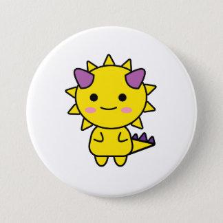 Bóton Redondo 7.62cm Desenhos animados amarelos engraçados de Kawaii do