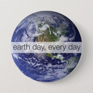 Bóton Redondo 7.62cm Dia da Terra, cada dia, mundo, foto do planeta