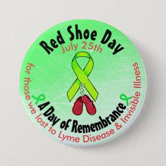 Bóton Redondo 7.62cm Dia vermelho personalizado dos calçados, no botão