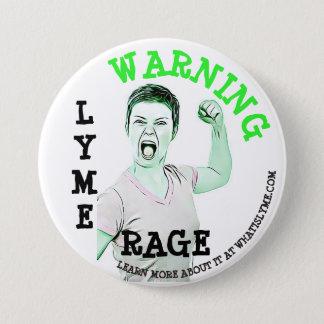 """Bóton Redondo 7.62cm Doença de Lyme, de """"botão da raiva Lyme"""""""