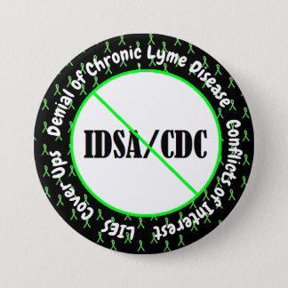 Bóton Redondo 7.62cm Doença de Lyme do botão do conflito de interesses
