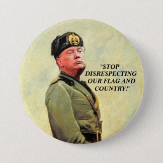 Bóton Redondo 7.62cm Donald Trump: Nosso ditador pequeno