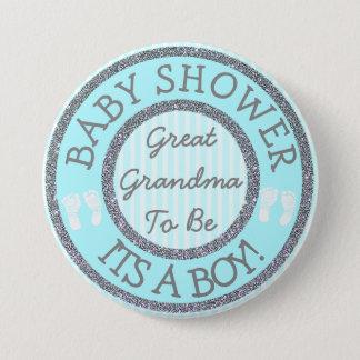 Bóton Redondo 7.62cm É um menino, avó a ser botão do chá de fraldas
