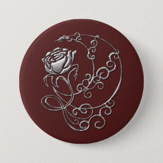 Bóton Redondo 7.62cm Escarlate do botão do rosa