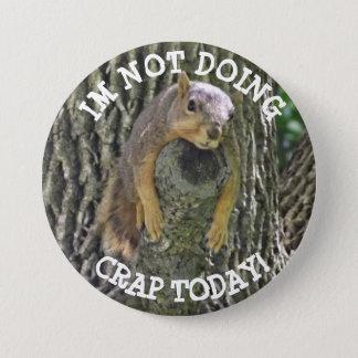 Bóton Redondo 7.62cm Esquilo preguiçoso engraçado que Napping no botão