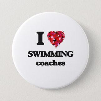 Bóton Redondo 7.62cm Eu amo nadar treinadores