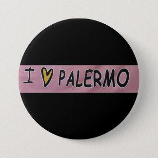 Bóton Redondo 7.62cm Eu amo o design de Palermo