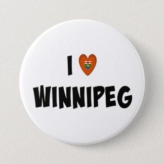 Bóton Redondo 7.62cm Eu amo Winnipeg