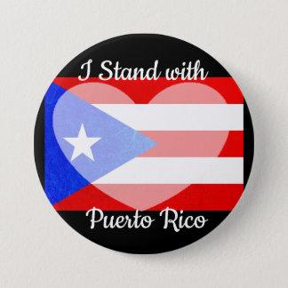 Bóton Redondo 7.62cm Eu estou com botão de Puerto Rico