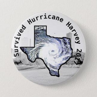 Bóton Redondo 7.62cm Eu sobrevivi ao botão de Harvey 2017 do furacão