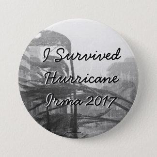 Bóton Redondo 7.62cm Eu sobrevivi ao botão de Irma 2017 do furacão