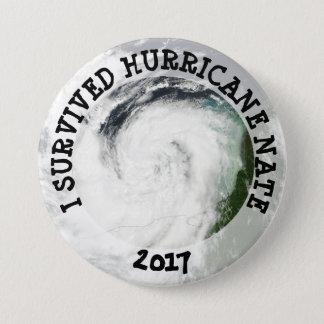 Bóton Redondo 7.62cm Eu sobrevivi ao botão de Nate 2017 do furacão