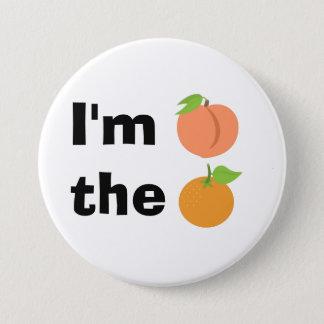 Bóton Redondo 7.62cm Eu sou pêssego a laranja