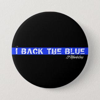 Bóton Redondo 7.62cm Eu suporto o botão azul das bobinas da polícia