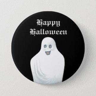 Bóton Redondo 7.62cm Fantasma feliz o Dia das Bruxas