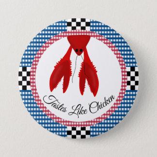 Bóton Redondo 7.62cm Fervura azul e vermelha do tabuleiro de damas do