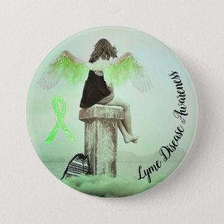 Bóton Redondo 7.62cm Fita da consciência da doença de Lyme & botão do