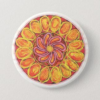 Bóton Redondo 7.62cm Flor celta - botão abstrato