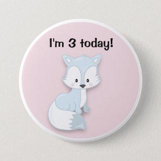 Bóton Redondo 7.62cm Fox ártico bonito no botão cor-de-rosa do