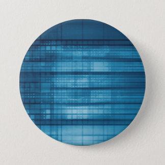 Bóton Redondo 7.62cm Fundo do mosaico da tecnologia como uma arte do