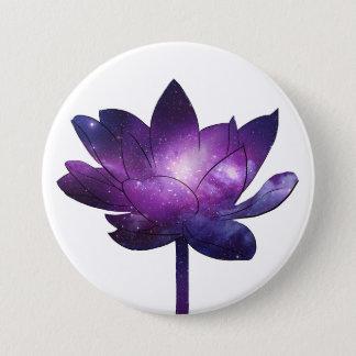 Bóton Redondo 7.62cm Galaxy Lotus Flower - white
