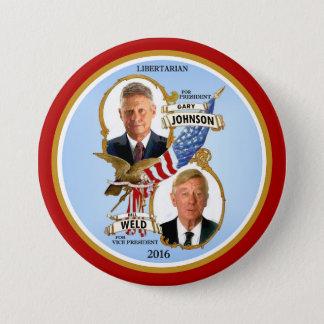 Bóton Redondo 7.62cm Gary Johnson para o presidente