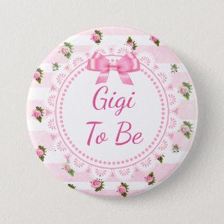 Bóton Redondo 7.62cm Gigi a ser rosas do rosa de botão do chá de
