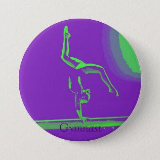 Bóton Redondo 7.62cm Grande botão do Gymnast