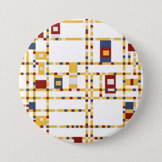 Bóton Redondo 7.62cm Grande, botão redondo de 3 polegadas