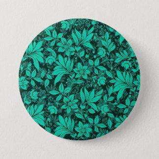 Bóton Redondo 7.62cm Grande floral, botão redondo de 3 polegadas