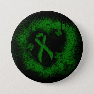Bóton Redondo 7.62cm Grunge verde da fita