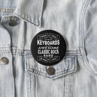 Bóton Redondo 7.62cm Grupo de rock clássico impressionante dos TECLADOS