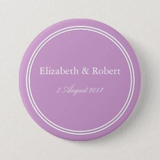 Bóton Redondo 7.62cm Grupo violeta Pastel gredoso da decoração do