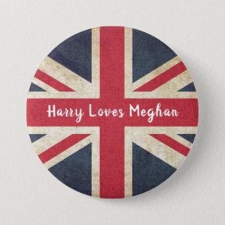 Bóton Redondo 7.62cm Harry AMA o botão real do casamento de Meghan