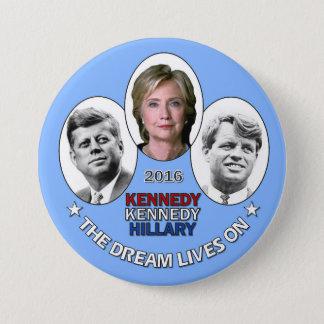 Bóton Redondo 7.62cm Hillary, JFK & RFK