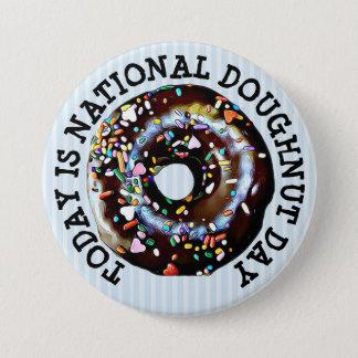 Bóton Redondo 7.62cm Hoje é botão nacional do dia da filhós